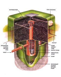 Primary treatment of sewage water